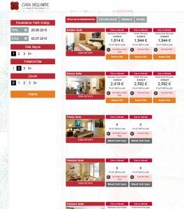Otel Online rezervasyon sayfası