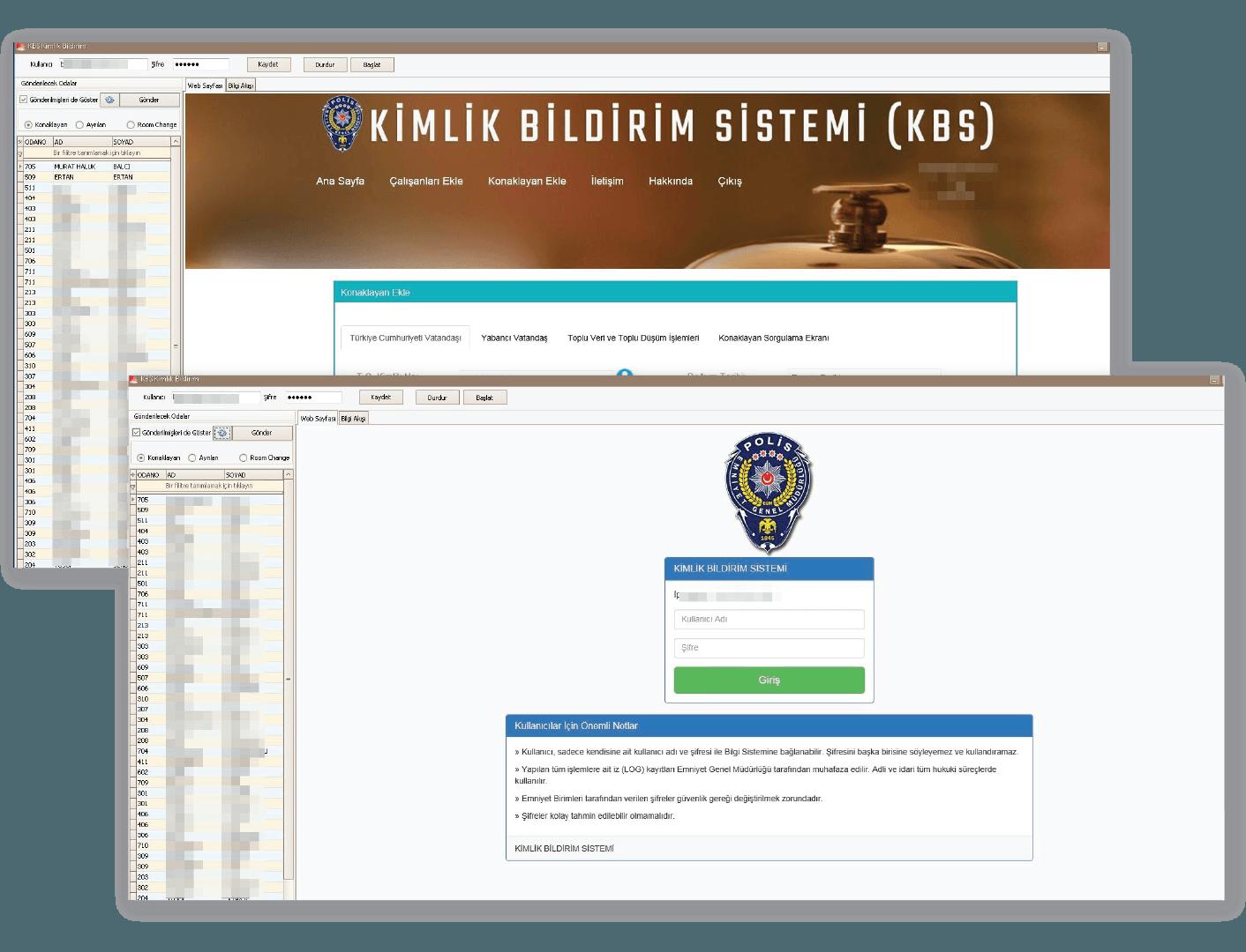elektra otel yazılımı kimlik bildirim sistemine otomatik gönderim yapar