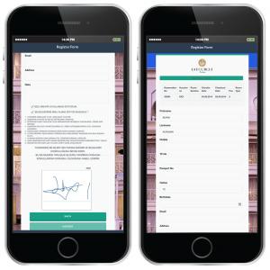 elektra opex online check-in ekranı