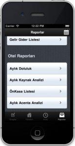 mobil yönetim ekranı